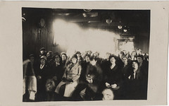 Photograph of Crowd with Cloud of Light and Spirit Faces - Ada Emma Deane - Real Photo Postcard (Photo_History - Here but not Happy) Tags: england extras spiritualist realphotopostcard spiritphotograph adaemmadeane