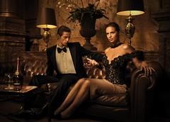 Cognac (AtelierLeonLeon) Tags: black by pencil necklace all lace top skirt stretch crepe corset swarovski atelier leonleon