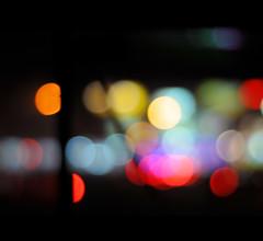Vibrant Vision [EXPLORED] (eternal_ag0ny) Tags: blue light red black blur color yellow night dark lens 50mm prime blurry nikon focus colorful shot bokeh vibrant nikkor range hue d300s