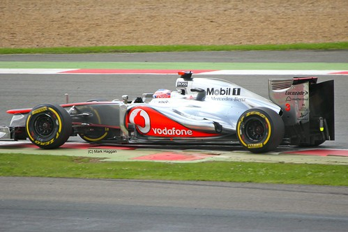 Jenson Button in his McLaren during the 2012 British Grand Prix at Silverstone