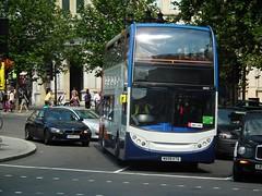 Stagecoach 19522 (kenjonbro) Tags: uk england london westminster manchester trafalgarsquare alexander dennis 2009 charingcross stagecoach sw1 19522 enviro400 kenjonbro mx09ktd fujifilmfinepixhs10 mm1mll