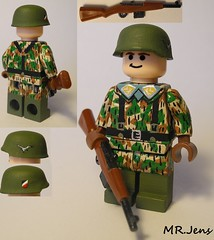 LW Fallschirmjger WWII LEGO (MR. Jens) Tags: world two germany war lego wwii german hazel ww2 custom 1939 43 luftwaffe gewehr fallschirmjager g43 paratr