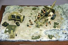 25 pdr Gun Ammunition Limber (SHMR) Tags: northafrica ww2 muckleburghmilitarycollectionmuseumweyburnenorfolkmodelcollectionmodeldisplay2012 british25pdrandcrew