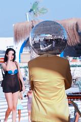Ball Job (koolandgang) Tags: man girl sunglasses ball 85mm discoball job zeissplanar d700 planart1485