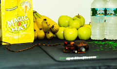 Healthy Gaming (Ruanon) Tags: boy green apple water hat night computer mouse vegan spring healthy circus magic release pad poland banana gaming bananas mousepad vegetarian apples cyborg binge prepared magichat razer circusboy goliathus guildwars2