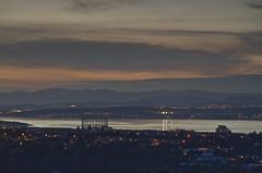 Belt of Venus over the Forth 9 October 2012 (Grant_R) Tags: sunset urban landscape twilight cityscape waterfront fife gasworks leith caltonhill beltofvenus firthofforth granton grantr