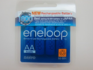 Sanyo Eneloop Rechargeable Batteries - New & Improved