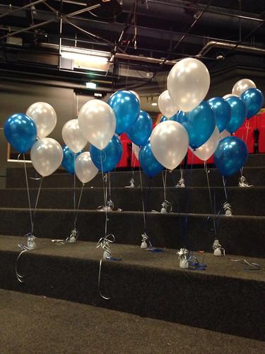 Tafeldecoratie 3ballonnen Wereldmuseum Rotterdam