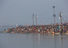 Pilgrims Bathing In Ganges, Maha Kumbh Mela, Allahabad, India (Eric Lafforgue Photography) Tags: travel people india tourism water festival river outdoors photography togetherness bath asia day religion crowd bank celebration event spirituality copyspace bathing hinduism pure pilgrimage religiouscelebration pilgrim traditionalculture sangam humaninterest allahabad socialgathering haridwar purification gangesriver yamunariver uttarpradesh realpeople kumbhmela traveldestinations colorimage indianculture 4795 uttarakhand largegroupofpeople indiansubcontinent royalbath celebrationevent traditionalceremony shahisnan indianethnicity