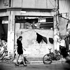 Nameless (Spontaneousnap) Tags: china street city people blackandwhite bw white film asia shanghai candid balck spontaneousnap