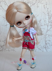 Blythe outfit - Overall + top + socks 2