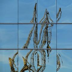 Surreal (carlos_ar2000) Tags: distortion color colour reflection building window argentina ventana buenosaires angle crane edificio reflected reflejo grua puertomadero distorsion angulo