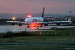 Atlas Air - Boeing 747F - N408MC (j.borras) Tags: barcelona airplane air bcn atlas boeing takeoff spotting departing 747f lebl n408mc rwy25r