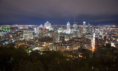 Chalet du Montreal (Sharkshock) Tags: city urban mountain canada beautiful night montagne buildings nikon cityscape view nightscape skyscrapers zoom montreal hill towers chalet belvedere nikkor montroyal nuit