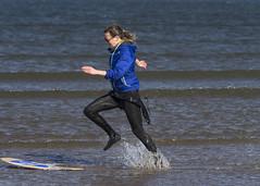Skim Boarder 015 (KeithProvenArtist) Tags: sea beach sport scotland surf waves play fife standrews westsands skimboarder