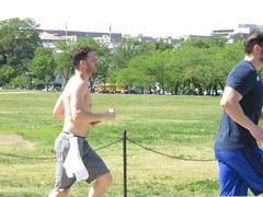 IMG_0657 (FOTOSinDC) Tags: shirtless man men muscles muscle candid handsome running sweaty sweat shorts jogging runner tee jogger