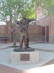 Jim Hill Statue at Scottsdale Stadium -- Scottsdale, AZ, March 08, 2016 (baseballoogie) Tags: arizona baseball stadium az giants scottsdale ballpark springtraining sanfranciscogiants cactusleague baseballpark scottsdalestadium 030816 canonpowershotsx30is baseball16