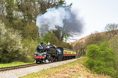 Approaching Darnholm (4486Merlin) Tags: england europe unitedkingdom transport steam northeast railways northyorkshire gbr northyorkshiremoorsrailway 63a heritagerailways exbr brstd4mt264t darnholmbankgoathland mattfishercharter 8012680072