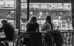 Urban House (John Soqquadro) Tags: windows coffee caf rain lights blackwhite chairs streetphotography indoor slovensko slovakia sedie pioggia bratislava finestre slovacchia laurinsk urbanhouse danubeeurope danuberegion