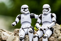 I don't think they will ever find us... (Vimlossus) Tags: 6 black toy starwars action stormtroopers figure series acba