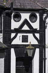 Odd Architecture (Chris Mullineux) Tags: door building wales halftimbered denbigh northwales