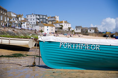 IMGP0504 (silverfish51) Tags: boat sand cornwall pentax harbour teal gig sigma sunny stives porthmeor k1 2470