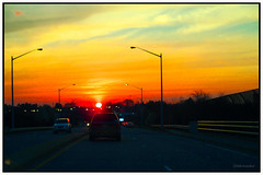 Sunset Highway (2 - 3) (Stephenie DeKouadio) Tags: sunset sky urban color colour art yellow canon painting photography virginia colorful image outdoor serene imagery darkandlight