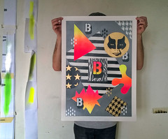 The B / Alphabet-0 (.UNO) Tags: geometric paper typography artwork stencil origami neon pattern geometry letters uno abc spraypaint typo fluo 2016 idontcareaboutuno