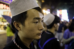 Hamburger Man (Aaron Guy Leroux) Tags: china night nightlights islam streetphotography photojournalism xian nightmarket muslimquarter reuters expat zeiss35mm sonya7 aaronguyleroux