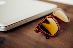 MacBook with Fashion Glasses (SplitShire) Tags: orange reflection sunglasses fashion glasses lifestyle style pro hawkers macbook macbookpro