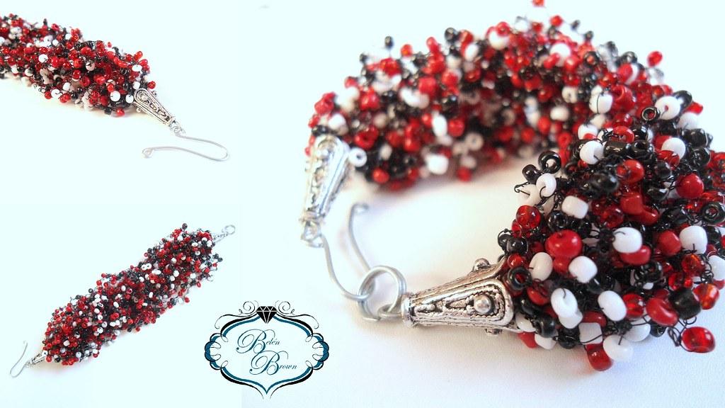 7ef996608350 Pulsera Oruga (Belén Brown Accesorios) Tags  crochet bracelet bead beading  pulsera bisuteria mostacilla