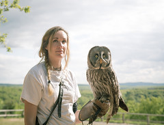 Tough Girls (Sarah and Salem) (simondegroote) Tags: nature portrait owl animal falconry eos 6d canon show france lot