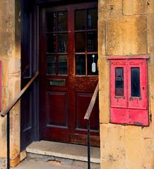 Shop Door (tmvissers) Tags: door uk england steps cotswolds handrail chipping campden
