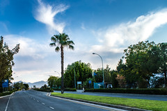 Good morning Nicosia (TOMS) Tags: road street city morning blue sky cloud plant streets tree nature grass clouds wow palms landscape nikon view outdoor cyprus palm palmtree 1855mm nikkor montains nicosia lefkosia d3200 vrii