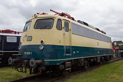 110 300   DB Museum Koblenz   19.06.2016 (R.O. Spotting) Tags: museum train germany 110 eisenbahn railway db ev 300 koblenz sommerfest bundesbahn e10 baureihe bgelfalte koblenzltzel einheitslok