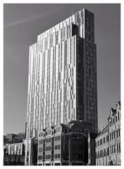 Monolith Monstrosity, Nido Spitalfields (HistoryLondon) Tags: blackandwhite london tower students architecture apartment flats monolith nido spitalfields