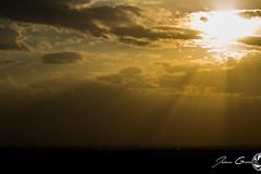 Puesta amarilla (juangrazz) Tags: sunset summer sky sun sol yellow clouds atardecer paisaje zaragoza amarillo cielo verano nube