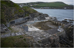 Port Erin, Isle of Man, derelict seaside pool (Pitheadgear) Tags: nature pool swimming landscape rocks decay urbandecay naturalhistory pools disused geology derelict isleofman urbex porterin