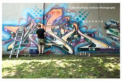 7017 (Massimiliano Fattizzo p.) Tags: street blackandwhite italy streetart milan colors graffiti colours milano colori