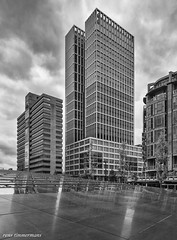 Rotterdam (Rens Timmermans) Tags: blackwhite rotterdam architectuur niksilverefexpro canon5dmk3 tamronsp2470mmf28