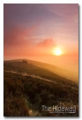 Misty sunset (Simon Bone Photography) Tags: sky cloud sun mist misty fog clouds haze cornwall hill redruth carnbrea canon1740mmlf4 cornishsunsets wwwthehidawaycouk canoneos7d hitechnd09reversegrad