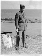 Roglio Alberto Casas in Class A Uniform Somewhere in North Africa with Ocean in Background c. 1943 - Rogelio Alberto Casas Photo Scan (Maine Transplant) Tags: wwii ww2