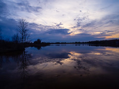 Diamond Lake 2012 No 1 (David Cornwell) Tags: sunset usa lake nature geotagged outdoors landscapes spring seasons evil indiana places olympus environment bodiesofwater diamondlake descriptive noblecounty davidcornwell olympuspenepl2 olympusmzuiko12mmf20