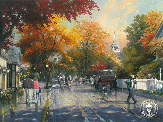 THOMAS KINKADE - Autumn on Mackinac Island