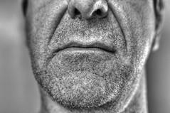 Visage mal ras. (didier sibourg1) Tags: portrait nikon noiretblanc bouche barbe visage grosplan