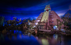 el rio del tiempo (EddyMixx) Tags: vacation history dark mexico temple orlando epcot 1982 maya florida disney disneyworld pavillion cincodemayo worldshowcase darkride