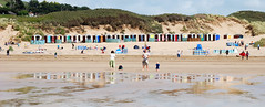 Saunton Sands (Robert Hewitt 1960) Tags: uk england reflection beach seaside huts devon sands saunton sauntonsands top20beach