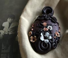 Back In Time (AleksandraMicic) Tags: art beads handmade unique jewelry images photographs pendant polymer micicart aleksandramicic