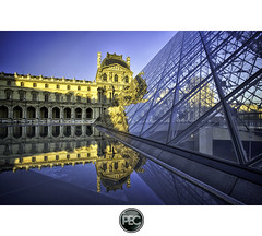 Early morning in the Louvre - Paris (_PEC_) Tags: morning 2 paris france glass metal night photoshop canon de eos early photo high pix long exposure photographie dynamic post image louvre d mark 5 tripod arc triomphe picture engine pic du full ii frame processing l 5d 24 28 usm 70 range ming nuit pyramide pei hdr parisian prod carrousel 2012 manfrotto verre cour napolon photographe mark2 pec 2011 trepied ieoh oloneo flickrstruereflection1 flickrstruereflection2 flickrstruereflection3