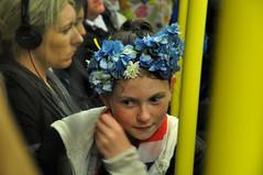 London Street Portrait (67Jewels) Tags: street flowers blue party portrait london girl smile train jack photography child jubilee union tube flags diamond celebration queens freckles